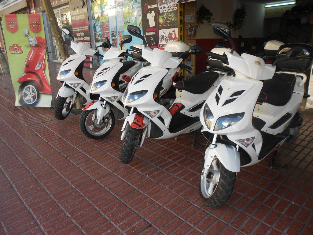 Alquiler de motos scooter de 125cc A 6€ EL DÍA
